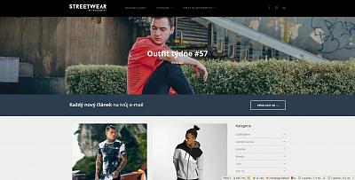 Webové stránky STREETWEAR.cz